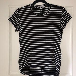 Frame black with white stripe tee